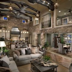 Modern Mediterranean decor done so right it almost hurts. - Modern Mediterranean decor done so right it almost hurts. Even in such an expansive room, the rock - Mediterranean Decor, Mediterranean Architecture, House Goals, Dream Rooms, My Dream Home, Dream Home Design, Future House, Luxury Homes, Luxury Apartments