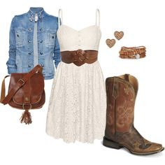 perfect outfit for all the country music fests during summer! - Polyvore