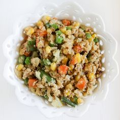 If you crave fried rice, try this recipe for cauliflower fried rice with  mixed vegetables—it's a delicious and healthy alternative to white rice. I  actually remember my mom making cauliflower fried rice when I was growing  up. Because my mom worked when I was growing up, simple meals like this  were a must. Back then, I wasn't too keen on how the cauliflower smelled  while she was sautéing it, but I always liked how it tasted afterward. Now,  of course, I associate that smell with a…