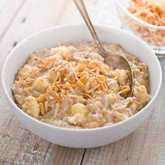 Banana-Coconut Steel-Cut Oatmeal in 10 minutes? Find out how we decreased the cooking time and maximized the flavor.