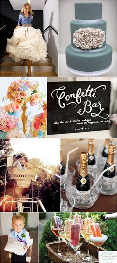 """Glam Tomboy"" wedding inspiration board from After YES, Before I DO and Everything In Between blog"