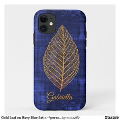 Gold Leaf on Navy Blue Satin -*personalize* Case-Mate iPhone Case New Iphone, Apple Iphone, Ipod Touch Cases, Unique Iphone Cases, Dark Navy Blue, Blue Satin, Plastic Case, Gold Leaf, Blue Sapphire