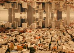 Australian photographer Ben Thomas takes skylines and flips them on themselves to create gravity-defying metropoles. Yes, you saw something similar happen in Inception. Using a mix of tilt-shift photography, filters, and Photoshop, Thomas conjures up an imaginary kaleidoscope-urbanism