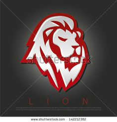 Lion icon by tgavrano, via ShutterStock Lion Icon, Black Lion, Family Crest, Black Backgrounds, Lions, Royalty Free Stock Photos, Graphic Design, Illustration, Bing Images