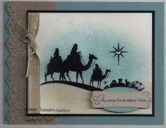 Bethleham stamps | Come to Bethlehem Stamp Set- Christmas cards 2011- Sponging