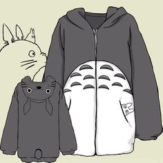 "use code: ""puririnhime"" to get 10% OFF everytime you shop at www.sanrense.com Kawaii cartoon totoro hooded flannel coat"