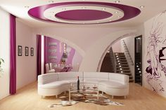 http://taizh.com/wp-content/uploads/2015/11/beautiful-ceiling-design-with-pink-white-color-also-white-sectional-sofa-and-brown-rug-under-glass-table-and-mural-wallpaper.jpg