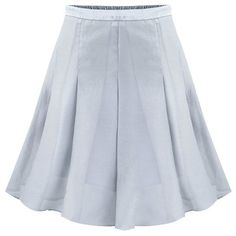 LUCLUC Grey Pleated Mini Skirt (43 AUD) ❤ liked on Polyvore