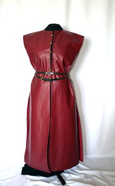 Red surcote Medieval and Renaissance faux by TheCenturiesChest