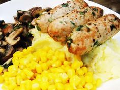 Syn Free Homemade Sausages with Gravy - Slimming World Slimming World Cake, Slimming World Recipes, Syn Free Sausages, Corn Cakes, Chicken Sausage, Lunches And Dinners, Healthy Recipes, Homemade, Breakfast