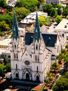 The Cathedral of St. John the Baptist | Savannah GA. This is a breathtakingly beautiful church inside