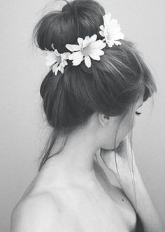 #sockbun with some flower accessories