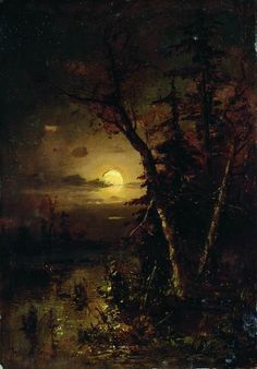 Julius Klever, Moonlit Night; 1879