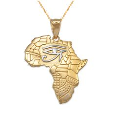 SWAOOS Africa Elephant Necklace Silver//Gold Color Trendy African Map Necklaces /& Pendants for Men//Women Fashion Jewelry Gift