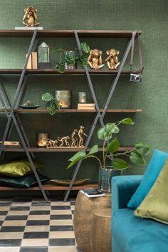 J-Line wandrek industrieel loft wandrek online kopen @ J LINE LIVING-shop webshop Ladder Bookcase, Ladder Decor, Loft, Furniture, Home Decor, Showroom, Paradise, Products, Shop