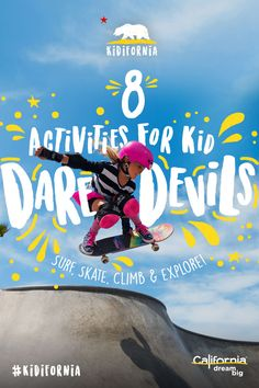 California is packed with epic adventures and sports for kids of all sizes and interests. Come thrill your family with one of these eight cool activities that will have them telling stories for days.