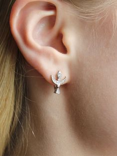 Materials: silver, 925 sterling silver, 925 sterling silver, cubic zirconia, cubic zirconia inserts, rhodium plating, rhodium plated, rhodium ##handmade Cubic Zirconia Earrings, Silver Earrings, Plating, Sterling Silver, Handmade, Free, Products, Hand Made, Gadget