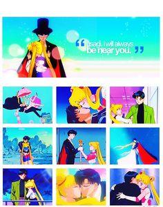 Sailormoon. Tuxedo Mask, Tsukino Usagi, Sailor Moon, Prince Endymion, and Princess Serenity.