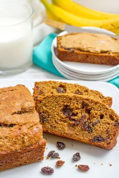 This easy whole wheat cinnamon raisin bread recipe requires no yeast, no kneading, no bread machine. It's lightened up, soft and so delicious! Cinnamon raisin bread just speaks family to me. I gues…