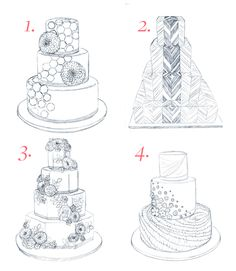 It's time to vote for the cake for #BridesLiveWedding! Check out these four designs and vote for your fave!: http://brid.es/1qV7hM4