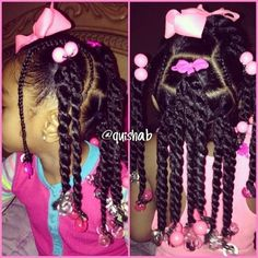 ◀Previous Post Next Post▶ Kids hairstyle(twist) – Looking for affordable hair extensions to refresh your hair look instantly? Cute Little Girl Hairstyles, Little Girl Braids, Baby Girl Hairstyles, Natural Hairstyles For Kids, Kids Braided Hairstyles, Braids For Kids, Girls Braids, Black Girls Hairstyles, Cute Hairstyles