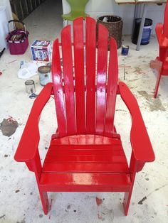 Good to know...I need to repaint my chairs. tips for painting Adirondack chairs