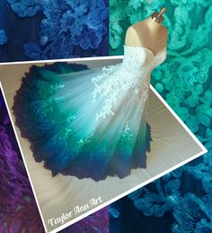 Peacock Dress Color by Taylor AnnArt
