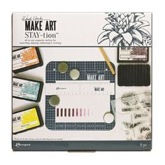 Ranger Ink - Wendy Vecchi - Make Art - Stay-tion - 7 Inch New Crafts, Craft Stick Crafts, Paper Crafts, Card Making Supplies, Craft Supplies, Make Art, How To Make, Guest Gifts, Ink Stamps