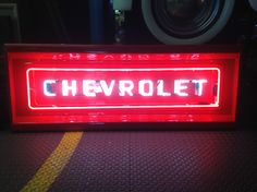 1955 Chevy Truck Tailgate Neon Sign