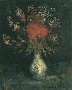 Vincent van Gogh: The Oil Paintings: Vase with Flowers. Paris: 1886-87
