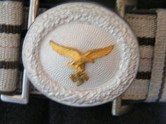 Belt & Buckle more details @ www.ww2militaria.net Photo Memories, Luftwaffe, World War Two, Belt Buckles, Wwii, Badge, German, Objects, Color