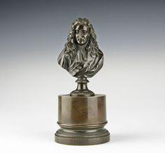 Frühes Tintenzeug Frankreich um 1840 Bronze Büste Jean de la Fontaine ink stand | eBay