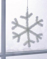 borax crystal snowflakes | martha stewart  art + science = higher learning