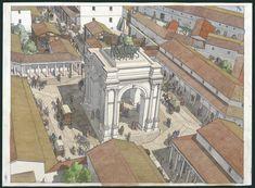 Gaul - Arelate (Arles) - Arc of Rhône Rome Architecture, Historical Architecture, Classical Architecture, Ancient Rome, Ancient History, European History, Ancient Aliens, Ancient Greece, American History