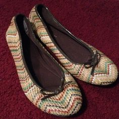 Brown flats New brown zigzag design flats Predictions Shoes Flats & Loafers