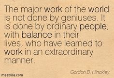 president hinckley humble quote - Google Search