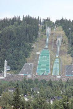 Lillehammer springschansen. Hier zijn we geweest in 1997 en 2000.