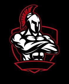 Badge of spartan warrior Royalty Free Vector Image , Spartan Logo, Spartan Tattoo, Spartan Helmet, Spartan Warrior, Logo Esport, Gym Logo, Bodybuilding Logo, Warrior Logo, Team Logo Design