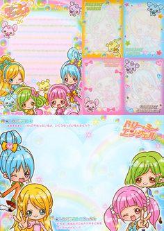 kawaii Memo Pad cute Girls avec autocollant 3