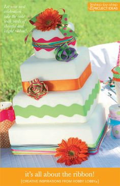 Hobby Lobby Project - It's All About The Ribbon - cake decorations, candle embellishments, gift wrapping, package enhancements,