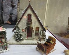 Santa's Compound, the Magic of the North Pole in a Miniature by Marylou Johnson: Front View of Santa's Workshop by Marylou Johnson