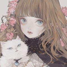 Manga Girl, Manga Anime, Anime Art, Butterflies In My Stomach, Kawaii Chan, Watercolor Girl, Harry Potter Anime, Art Studies, Anime Style