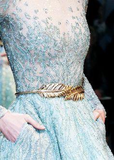 Zuhair Murad Haute Couture Spring 2014 | beautiful dress blue sparkle fashion