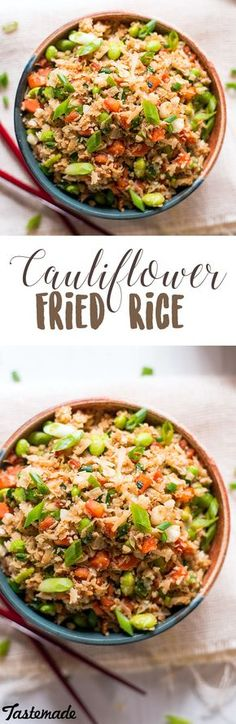 Kick up your fried rice game. This healthy alternative is made with grated cauliflower - but you can hardly taste the difference! Save the recipe on our app! http://link.tastemade.com/HE7m/H1wHe4m2mA