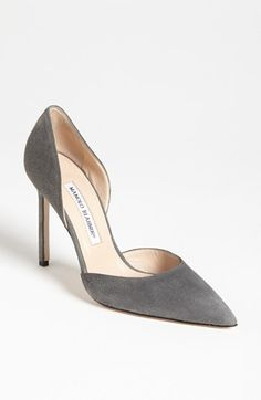 Manolo Blahnik 'Taylor' d'Orsay Pump available at #Nordstrom. I want these in black too