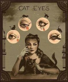 the coolest makeup how-to i've ever seen in my life, period. flapper cat eye.