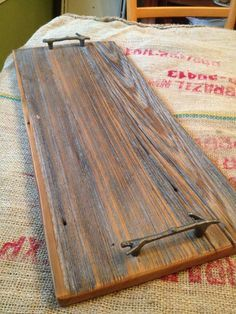 Image result for barnwood  serving tray