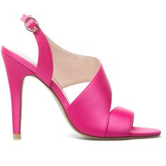 ShoeDazzle Sandals-Dressy - Single Sole Gilda Womens Pink ❤ liked on Polyvore featuring shoes, sandals, pink, sandals-dressy - single sole, pink slingback shoes, sling back sandals, slingback shoes, strap shoes and padded sandals