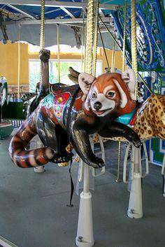 Turtle Back Zoo Carousel Red Panda | Flickr