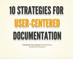 User-centered documentation slides